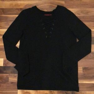 N:Philanthropy Lace up V-neck Sweater